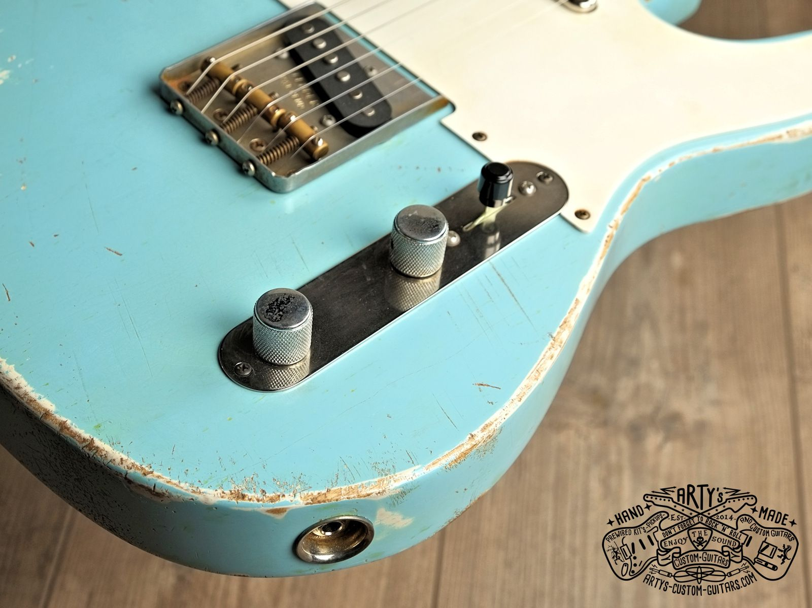 Sonic Blue relic roadworn Telecaster Warmoth Maple Neck Fender Swam ...