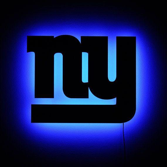 New York Giants Wall Light Ny Giants Logo Night By