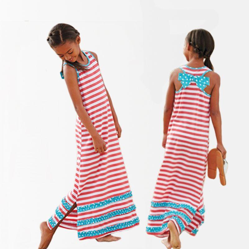 Wonderbaarlijk Goedkope Meisjes Jurk Zomer Meisjes Casual Dress Kids Stripped HV-75