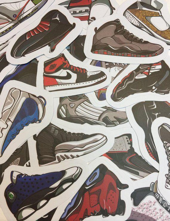 detailed look 327d0 b53bd AJ Stickers Air Jordan Stickers Jordan Shoe Micheal Jordan Gifts Air Jordan  11 Gifts AJ8 AJ1 AJ3 AJ5