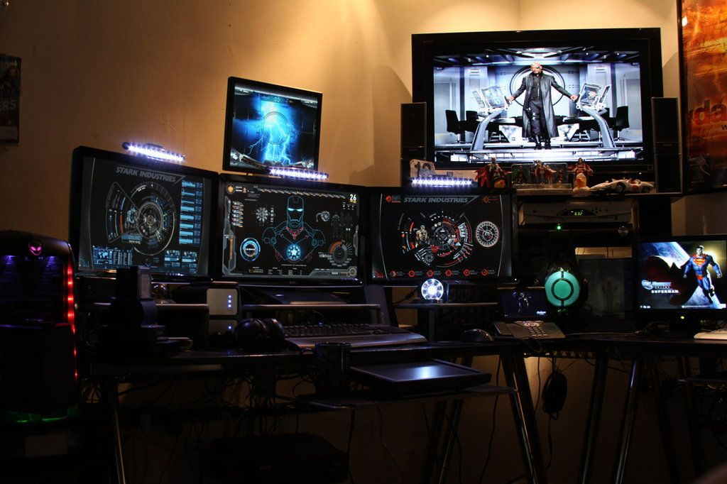 Man Cave Desk Ideas : Cool garage man caves tony stark inspired cave by
