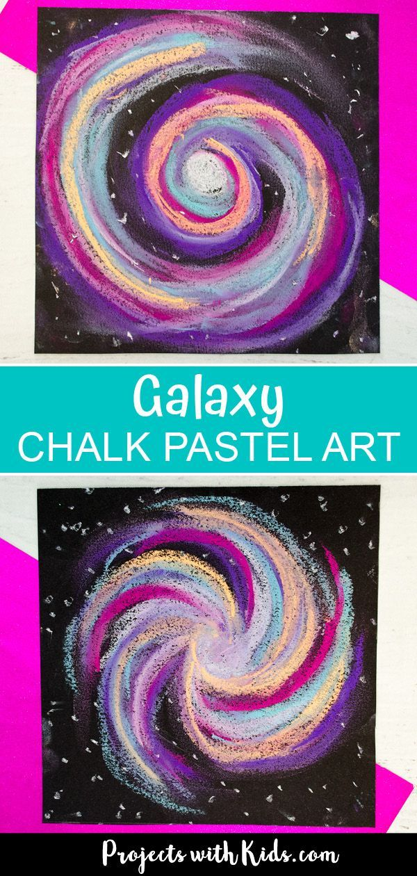 Awesome Galaxy Chalk Pastel Art Project for Kids - Kunst -  This chalk pastel galaxy art project is out of this world! Kids will love using easy chalk pastel t - #Art #ArtsAndCraft #Awesome #Chalk #Galaxy #Kids #Kunst #pastel #Project