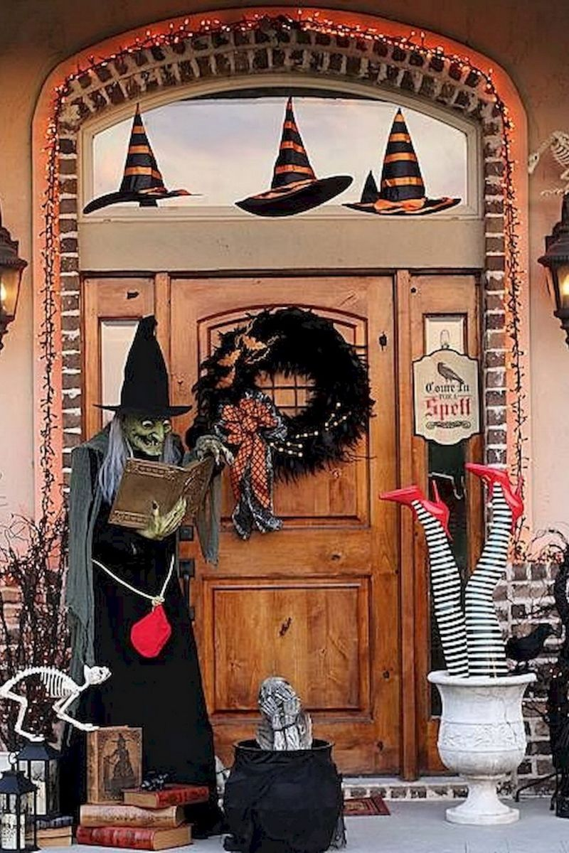 Outside Halloween Decorations Party City Halloween Porch Decorations Halloween Porch Halloween Mantel