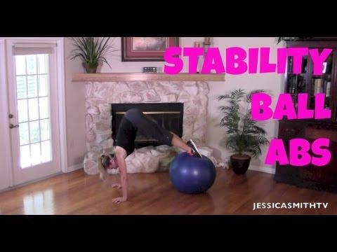 Ab workout, Abs, Belly Fat, Stomach Exercises:Full Length 13-Minute Stability Ball Abs Workout