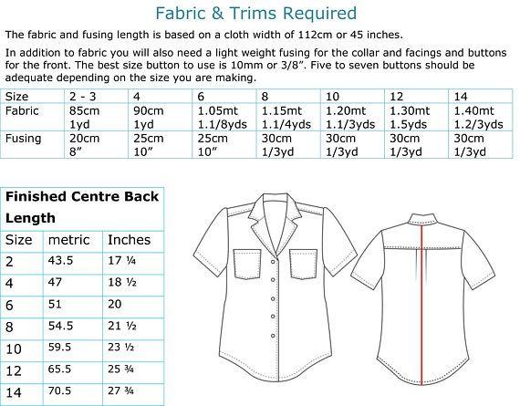 Boy's Hawaiian shirt sewing pattern for kids 2-14 years. | Etsy ...