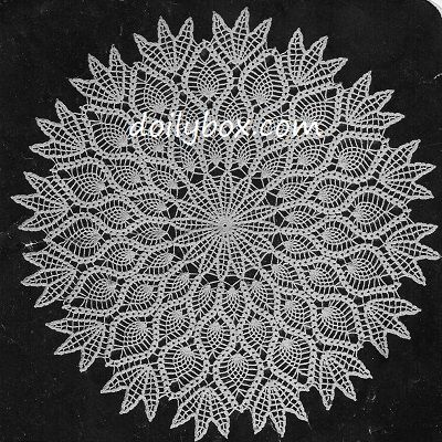 Free Crochet The Pineapple Doily Pattern | Free Crochet Patterns ...