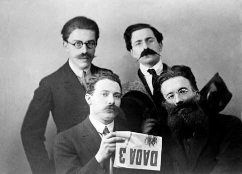 Man Ray-Dadaists in Disguise-Louis Aragon, Lissoum, Paul Eluard and Tristan Tzara, Zurich-1918