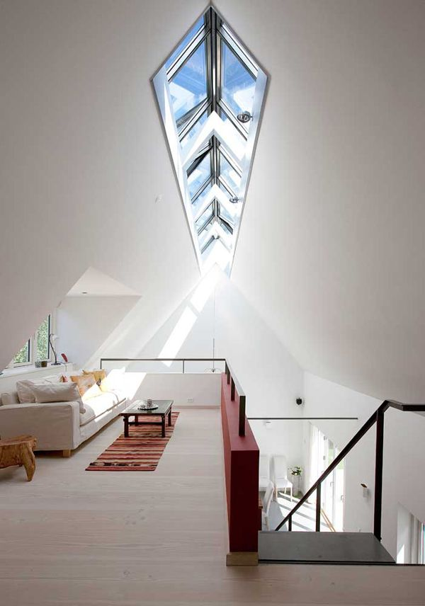 for high-pitched roof Lets the hot air out, light in, and the stars - maison avec toit en verre