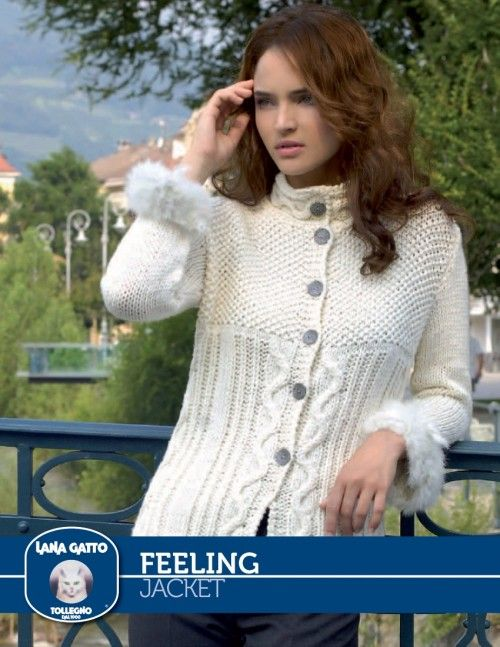Feeling - Jacket by Lana Gatto at KnittingFever.com | DOS AGUJAS ...