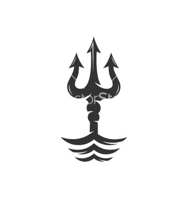 Trident on the waves logo vector     | Sew Fun! | Mythology