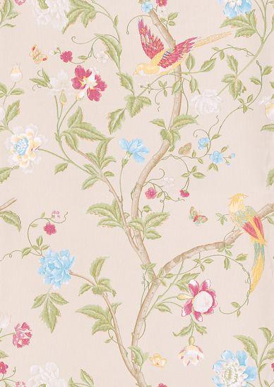 Summer Palace Linen Wallpaper By Laura Ashley Wallpaper