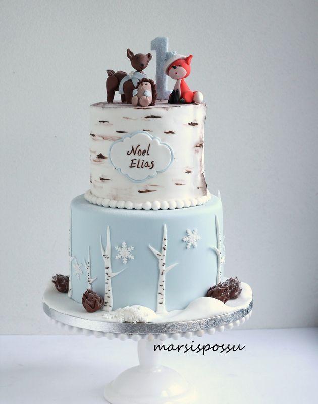 Marsispossu: Talvinen synttärikakku, Woodland cake