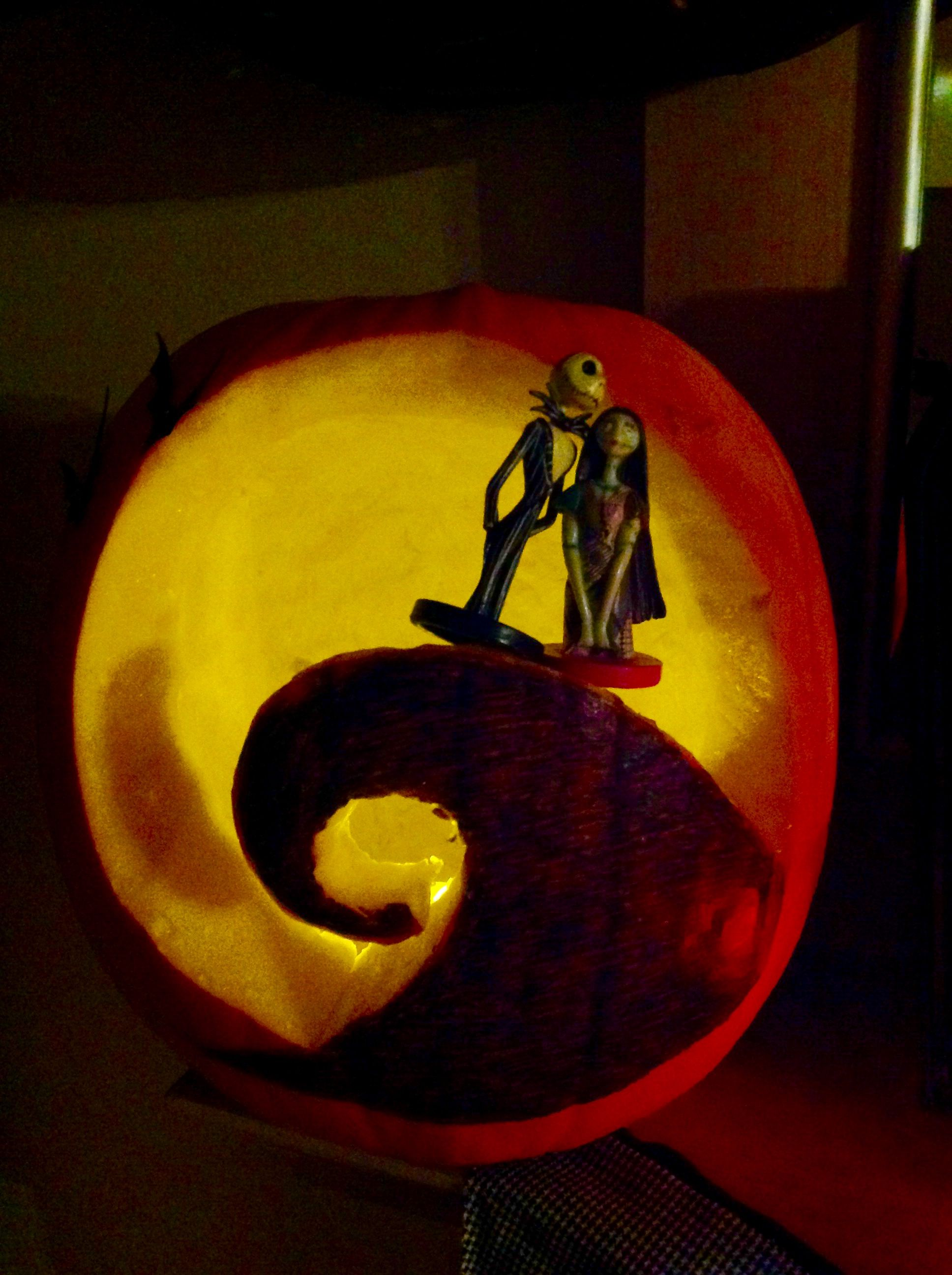 Nightmare before Christmas carved pumpkin by Happy Sunday Creations ...