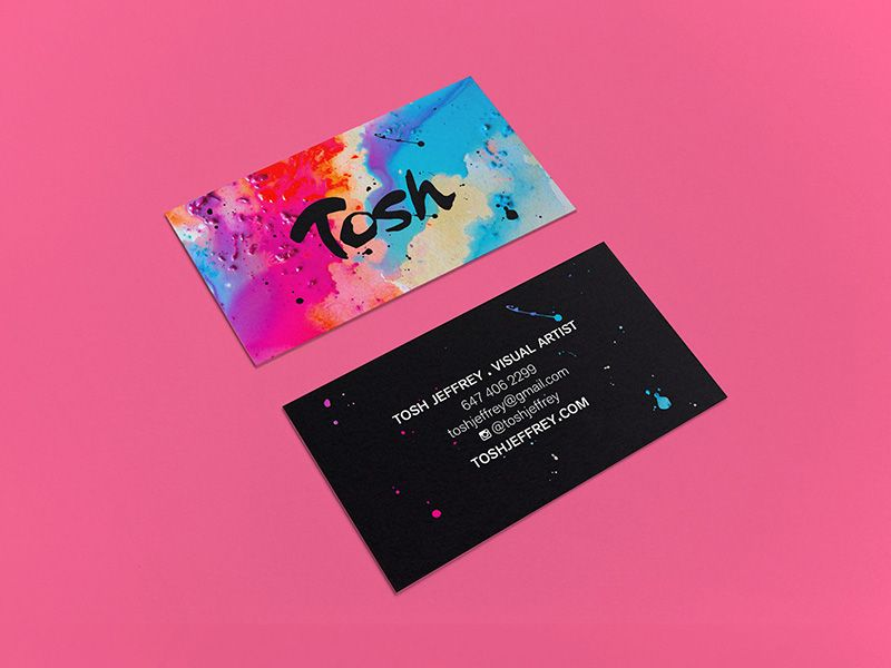Furia Design Tosh Jeffrey Business Cards