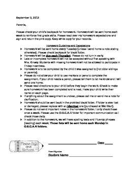 Parent letter explaining homework descriptive essay person free