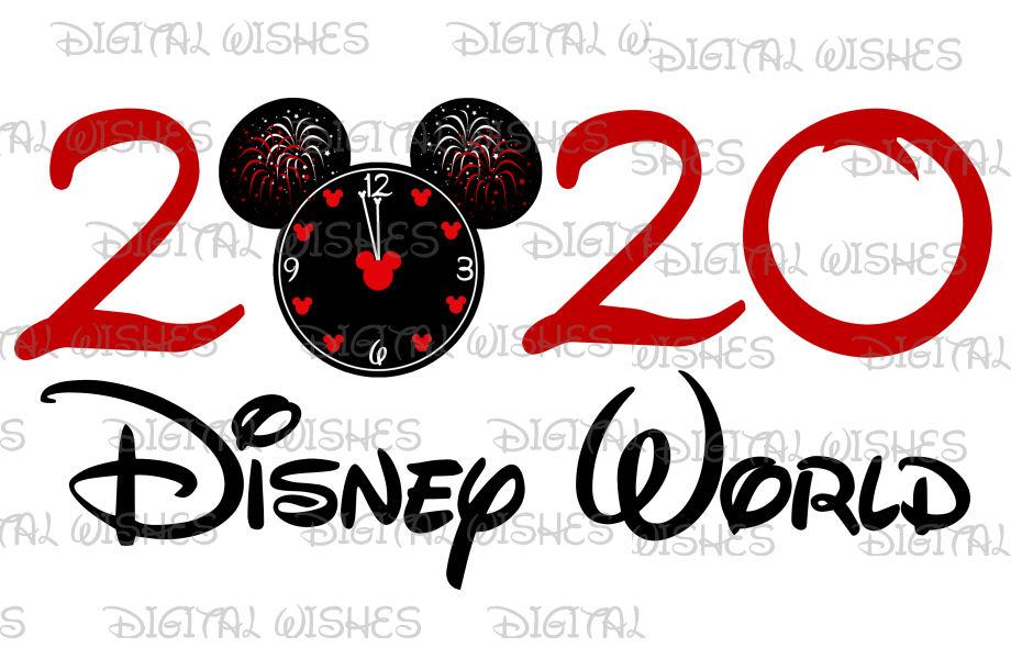 Mickey Countdown Clock New Year Disney World 2020 Instant Download Digital Clip Art Diy For Shirt My Heart Has Ear Digital Clip Art Clip Art Countdown Clock