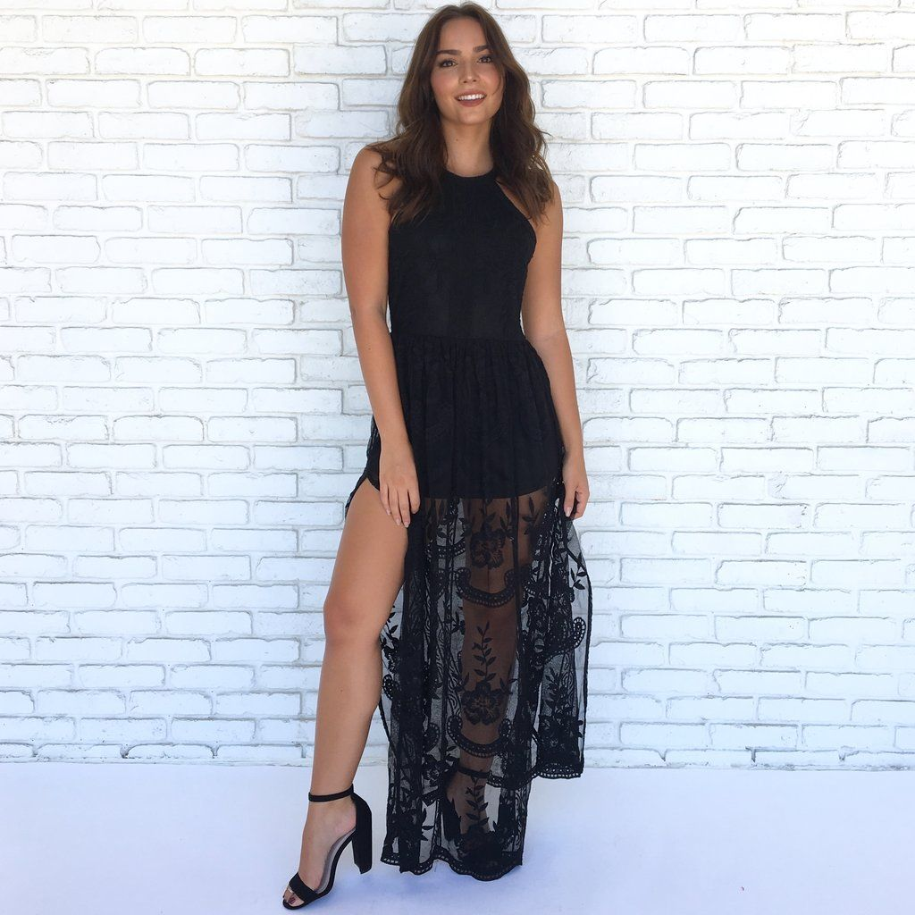 0aebabf354cb Lace Against Time Maxi Dress in Black
