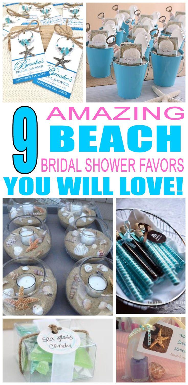 Beach Bridal Shower Party Favors Beach bridal showers