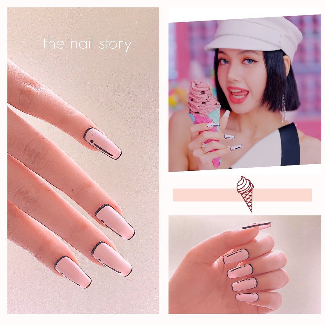 14 Acrylic Nail Art Kpop Designs Https Www Acrylicnailsdesigns Net 14 Acrylic Nail Art Kpop Designs Acrylic Nail Designs Korean Nail Art Idol Nails
