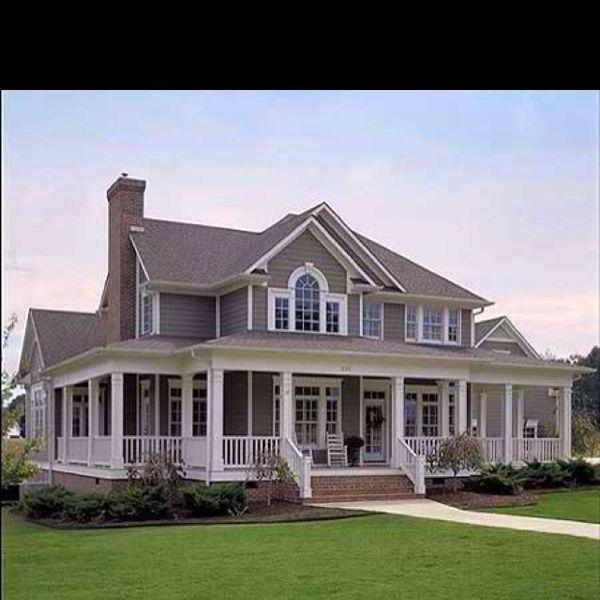 Ranch Home Siding Design Ideas: House - Like The Siding Color