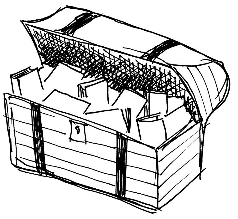 Free Treasure Coloring Pages   Pirate treasure chest ...