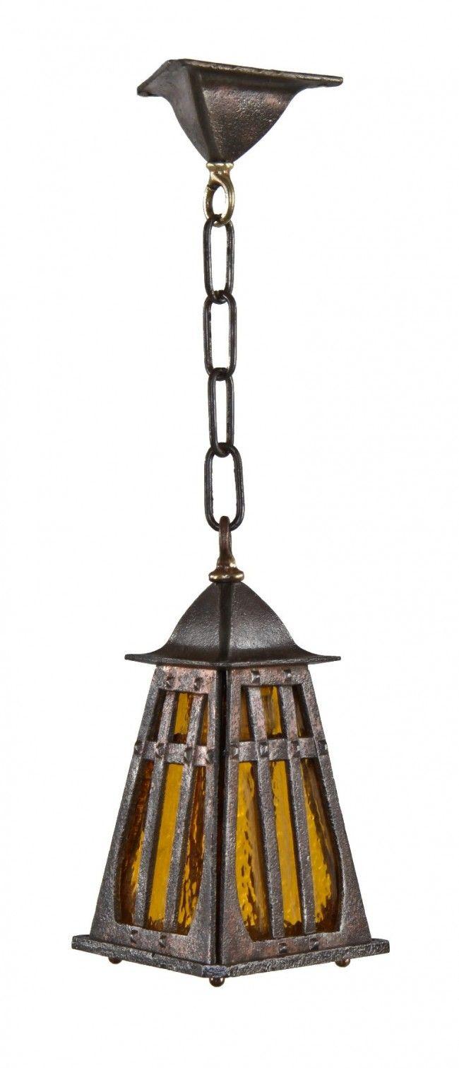 Highly Desirable C 1920 S Original Antique American Craftsman Style Ornamental Cast Iron Pyramidal S Craftsman Lighting Porch Light Fixtures Arts Crafts Style
