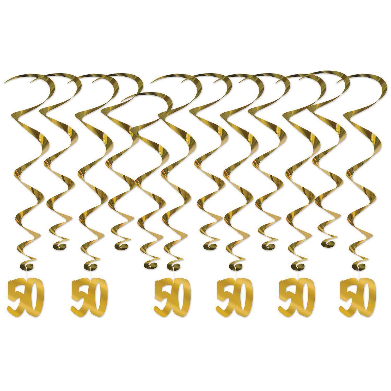 50th anniversary whirls 12pkg happy 50th anniversary