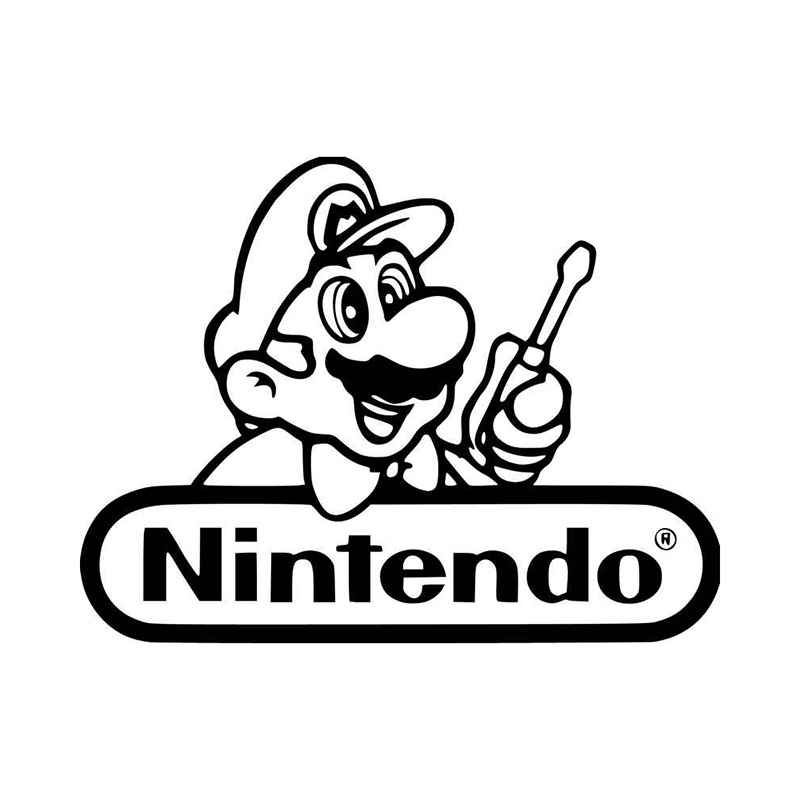 Mario Repair Nintendo Logo Vinyl Decal Sticker