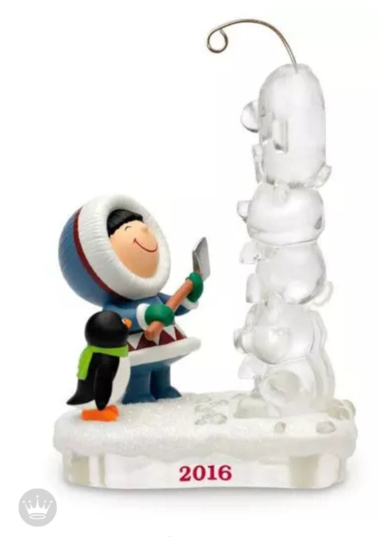 Frosty Friends Ice Totem Pole Carving Ornament | Collections~ My ...