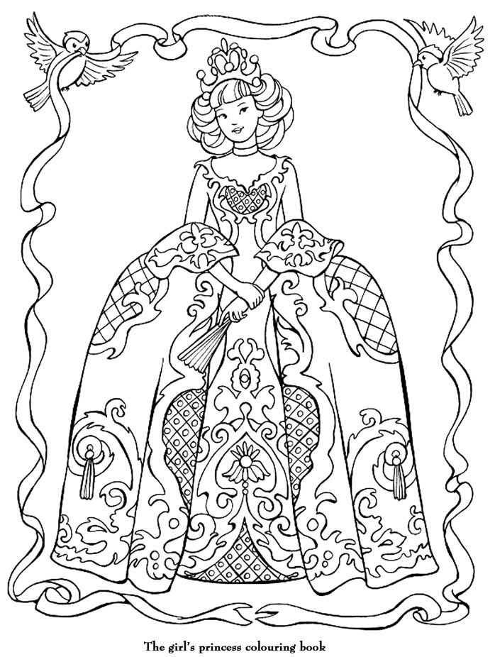 Coloriage princesse coloring pages barbie disney - Robe barbie adulte ...