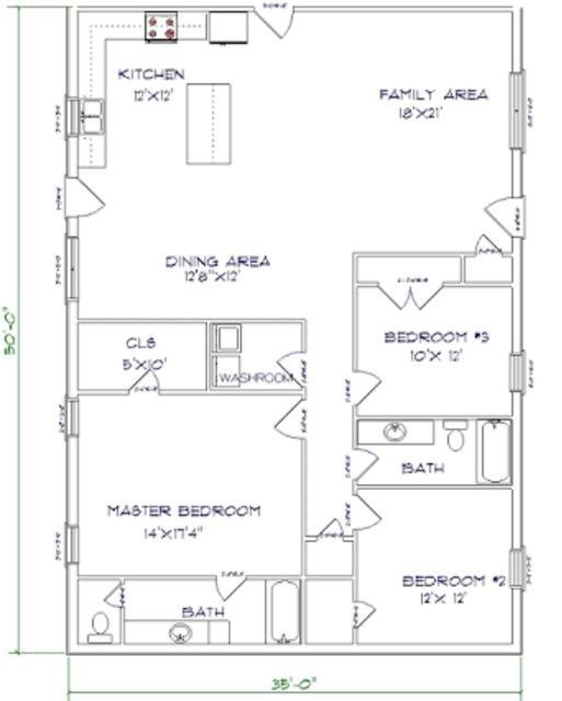 Pole barn kit barndominium floor plans barndominium for Two story pole building plans