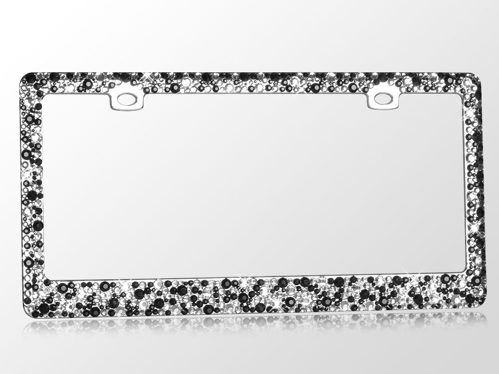 Jeweled Black Multi Rhinestone License Plate Frame | License plate ...
