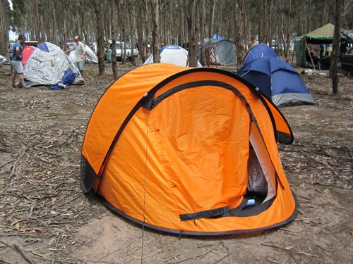 REI purchase in Stripped - bright orange tent | My bright orange tent