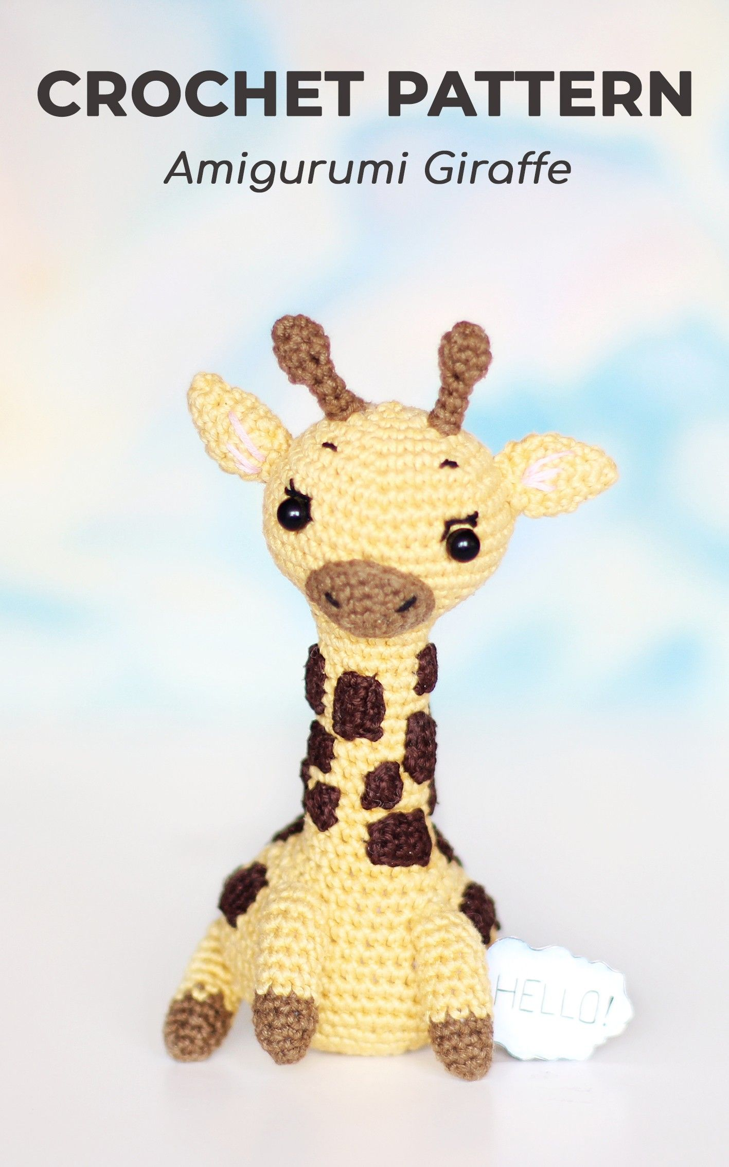 PATTERN crochet GIRAFFE pdf tutorial how crochet giraffe amigurumi ... | 2268x1417