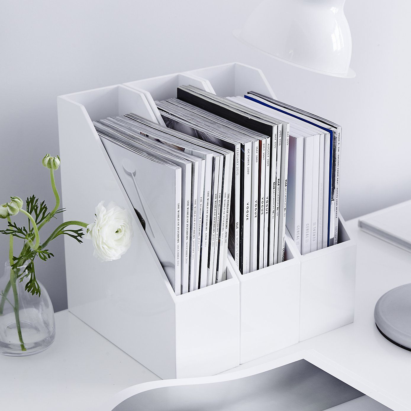 home office magazine. Lacquer Magazine Holder | The White Company Home Office G