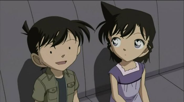 Little Shinichi's poker face xD