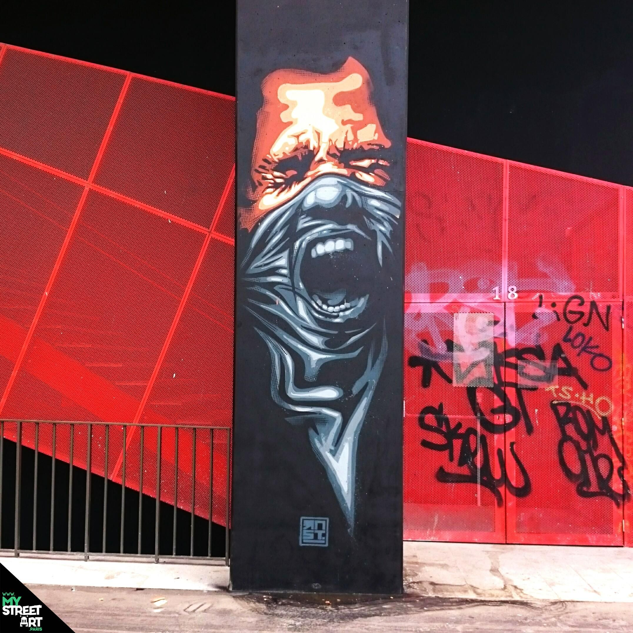 "Paris Street Art - ""Ready To Fight"" by RNST - Paris 13ème - http://my-street-art.paris/paris-street-art-ready-to-fight-by-rnst-paris-13eme/"
