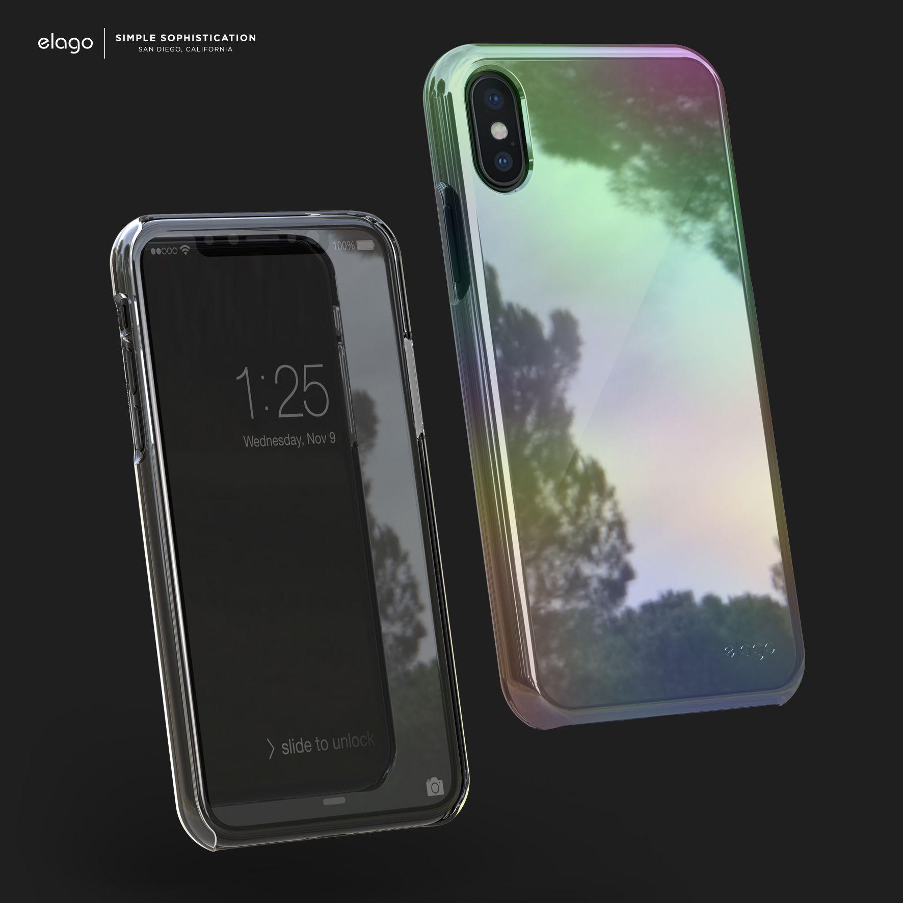 elago Slim Fit 2 Case for iPhone X Rainbow