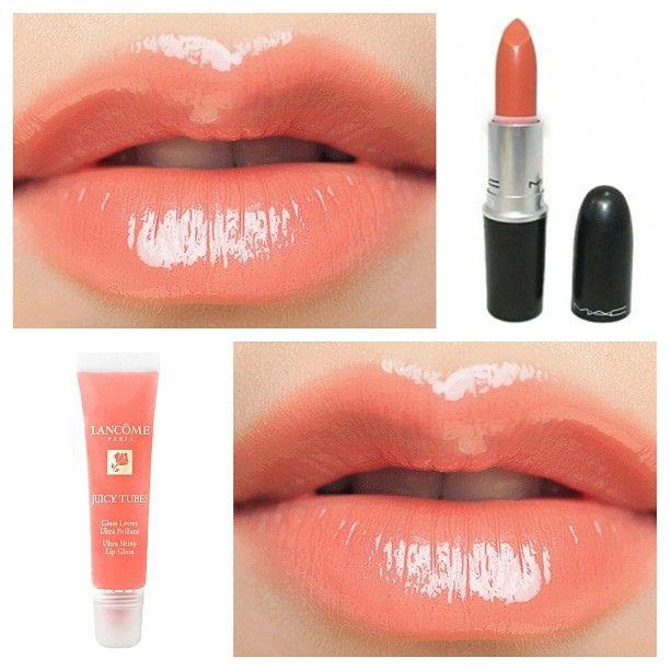 Light Coral Peachy Pink Lip Recipe: Mac's Lipstick In