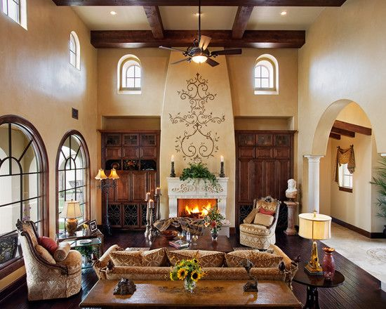 Bedroom Spanish Style Design Ideas Pictures Remodel And Decor Mediterranean Living Rooms Mediterranean Homes Tuscan House