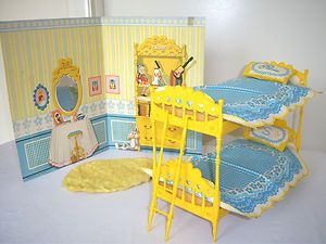 Letto A Castello Barbie.Vintage Original Barbie Skipper Bunk Beds Bedroom Backdrop 1965
