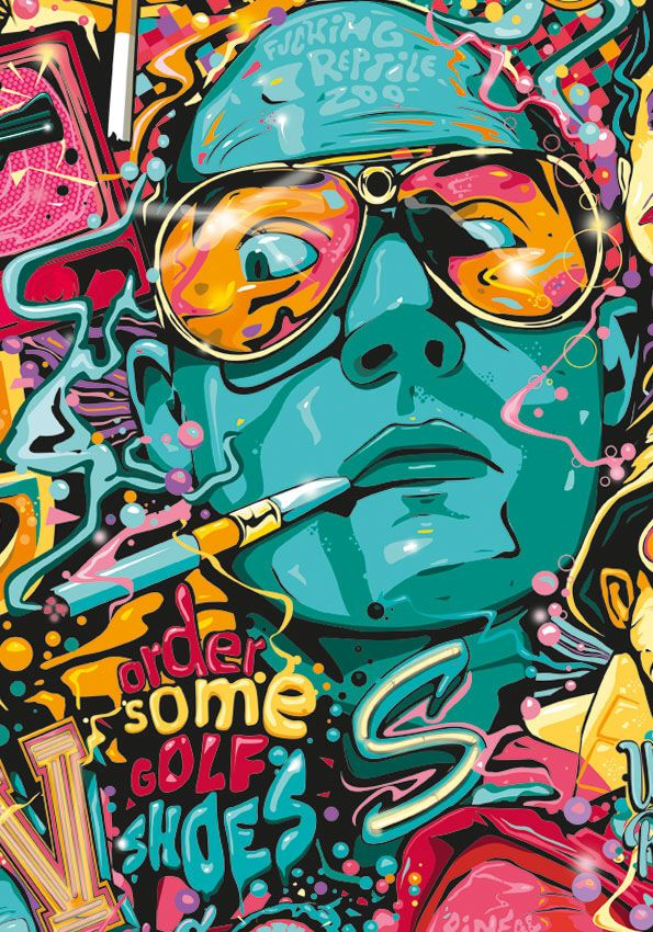 8805e6cbd475 No discription Fear And Loathing, Arte Digital, T Art, Alternative Movie  Posters,