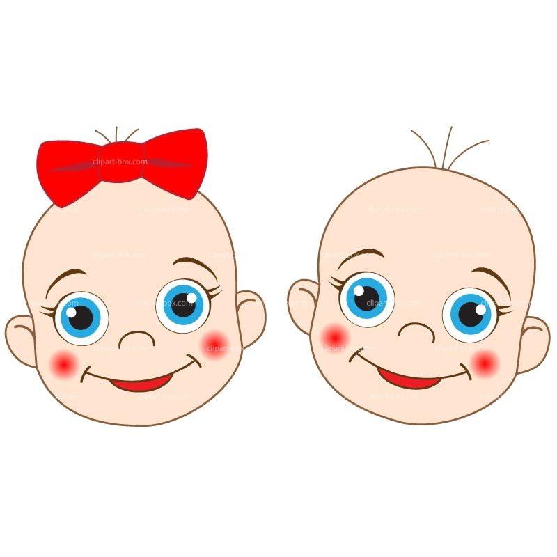 Clipart babies faces royalty free vector design with