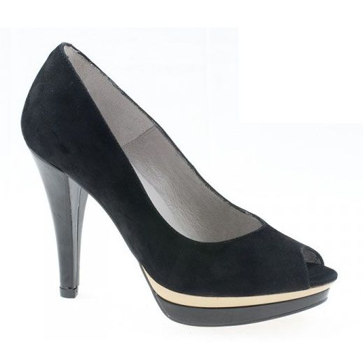 Zapatos Peep Toe negro