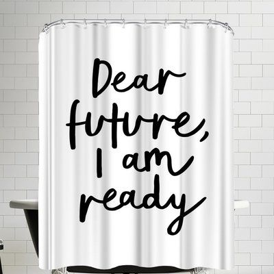 East Urban Home Dear Future I M Ready Single Shower Curtain Colorful Curtains Cool Curtains Striped Shower Curtains
