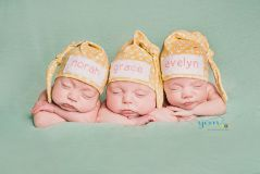 Triplets name hats personalized baby gift newborn triplets name hats personalized baby gift newborn photography negle Image collections