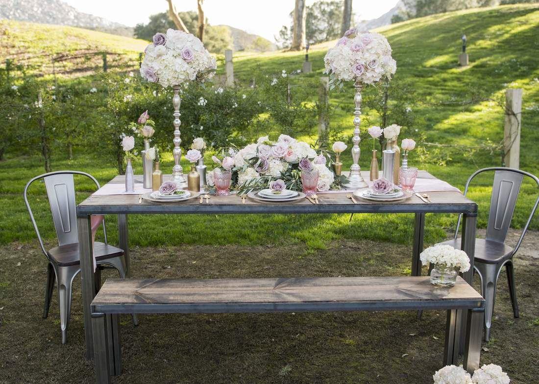 urban design industrial farm table rentals party rentals wedding rentals temecula california