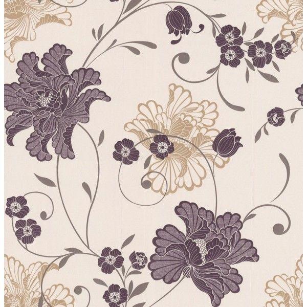 laurence llewelyn bowen wallpaper | Purple Wallpaper | Designer Wallpaper | Taffetia Wallpaper Direct