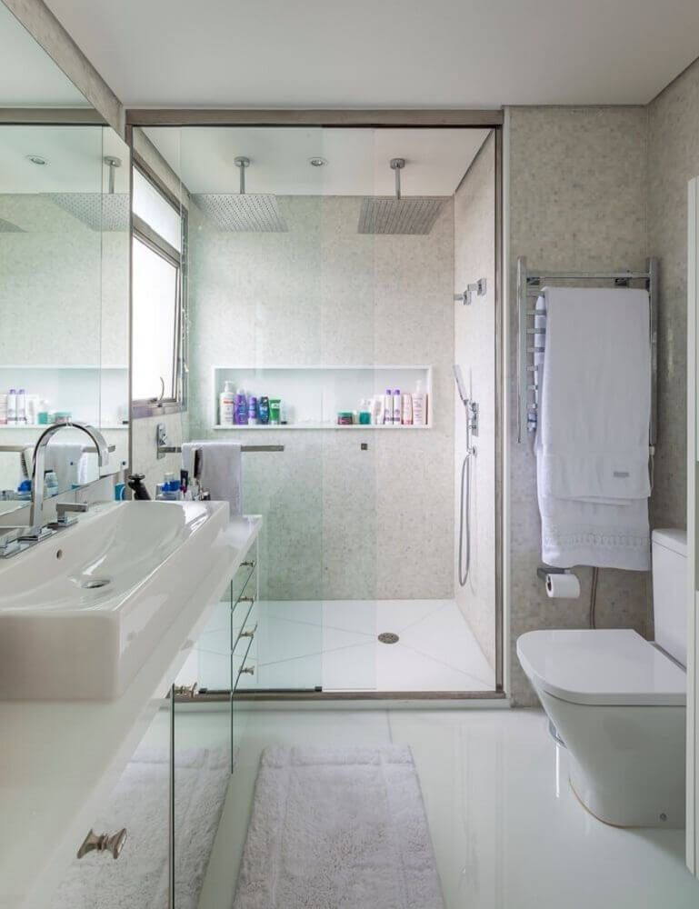Nicho Para Banheiro 65 Maneiras Para Decorar E Organizar