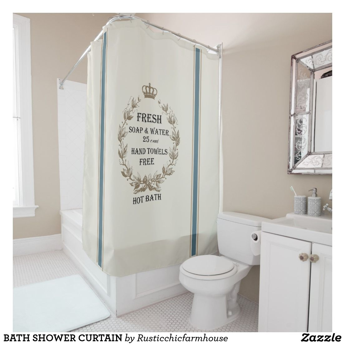 BATH SHOWER CURTAIN Modern bathroom decor